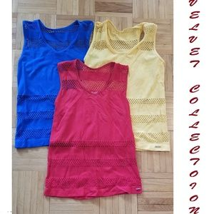 Bundle of Racerback Tops, Red, Blue, Yellow